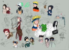 Naruto doodles by Eva-Black