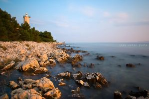Lighthouse on island Vir by ivancoric