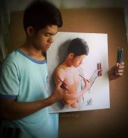 my self and my artwork by Arthur T. Cortez by ATCdrawings