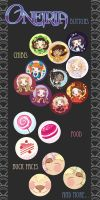 Oneiria Buttons 2012 by drawingum