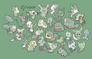 Grass Type Starters by Infawno