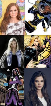 My wish cast before Batgirl and the Birds of prey by BlackBatFan