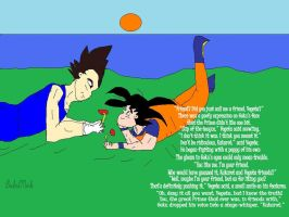 Goku and Vegeta- Slip of the Tongue by BeckstMirk