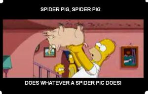 Spider Pig by GrayRainbow