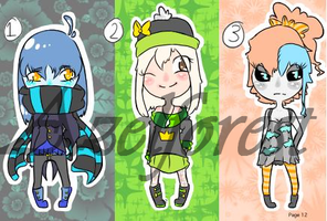 Chibi HumanGirl CollabAdopts (OPEN) by Azelforest