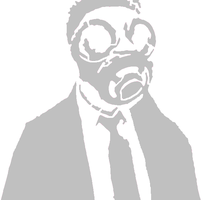 gas mask stencil by epik209