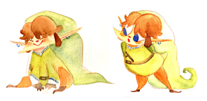 Link Doodles by sapphii
