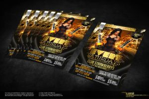 Every Saturdays Party Flyer by Gallistero