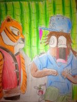 Tigress meets Toon Clyde by Africa2000