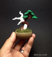 Polymer Clay bonsai sculpture by Ken To by KenToArt