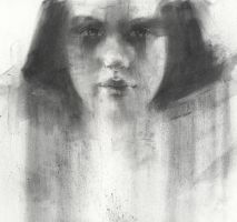 dark eyes in charcoal by derekjones