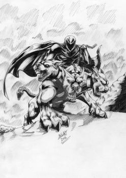 Shade upon his Cerberus by sketcher298
