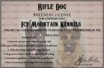 Rifle dog License by blueshinewolfstar1