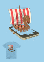 Mobile Vikings t-shirt design by artlambi