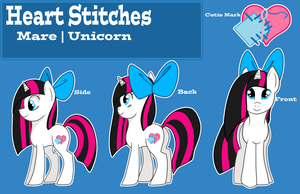 Heart Stiches Reference Sheet by MemeSquid