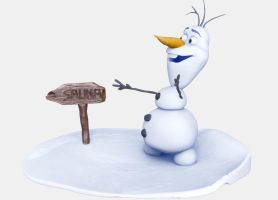 Frozen Olaf final render by Smoke2007