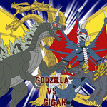 Godzilla vs. Gigan by Daizua123