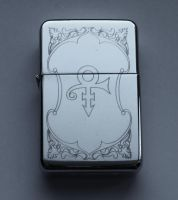 PRINCE - LOVE SYMBOL - engraved lighter by Piciuu