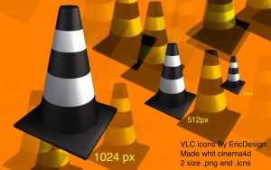 VLC icons by 3DEricDesign