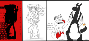 A Wild Fangirl Appears by Dipschtick