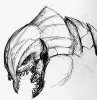 Halo: Arbiter Sketch by Tavanaka