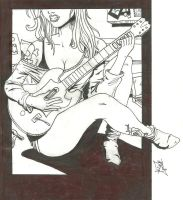 Girl and Guitar by FelipeAquino