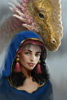 Portrait with a dragon by morawless