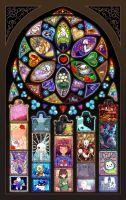 Undertale stained glass collab by longestdistance