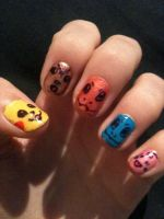 Pokemon nails by My-Life-In-Pictures