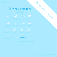 Famous painters brushes by Lyd2000