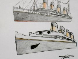Titanic as a Wee Little Child by ZeroGal5