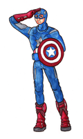 Captain America by SlushiOwl