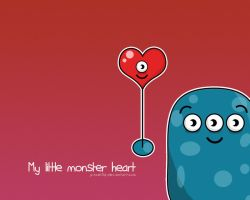 My Little Heart Monster by pincel3d