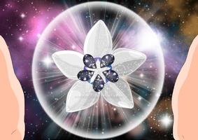 Silver Star Crystal Hoya (Flower/ Lotus Form) by sailorsilverstar