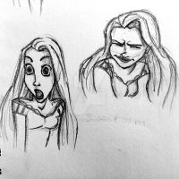 More Rapunzel sketches by littlewaysoul