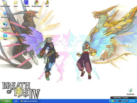 Breath of Fire IV BG on Tablet by Zellimia