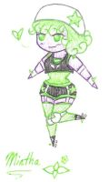 Mintha pen sketch by TheRedCello