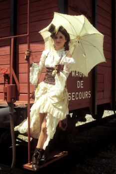 EloSteam Train Umbrella by elodie50a