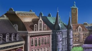 Architecture Study (Ref: Kiki's Delivery Service) by Illustrum