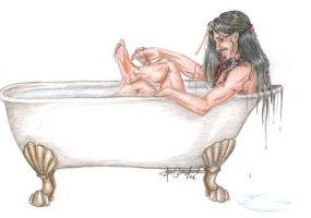 Jack Sparrow Taking a Bath by AnnaCStansfield