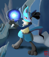 Lucario Commission by TheNoodleFace