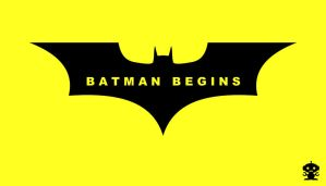 2005 Batman Begins Movie Title Logo by HappyBirthdayRoboto