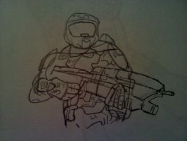 Master Chief by AxBeautifulxLie9