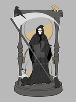 DEATH Nouveau Print by perdita00
