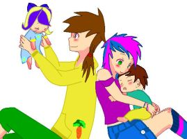 Happy Family by MoonCloudTheBrony