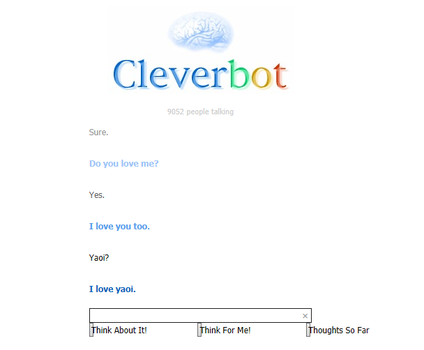 Cleverbot Loves Yaoi by yaoi-fangirl234