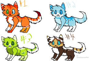 Kitty adoptables batch #2 OPEN by AutumLeavesofFall