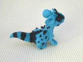 Scaled Blue and Black Dragon by KriannaCrafts