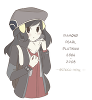 Pokemon Platinum - Dawn by chocomiru02