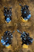 Storm Dragon the Wyvren Head by temperance